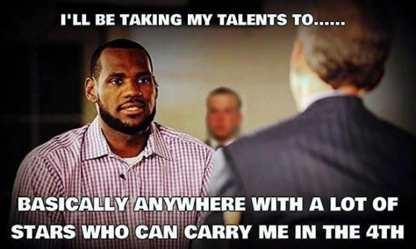 looking for someone to carry him e1403699852978 31 Best Memes of LeBron James Maybe Leaving the Miami Heat
