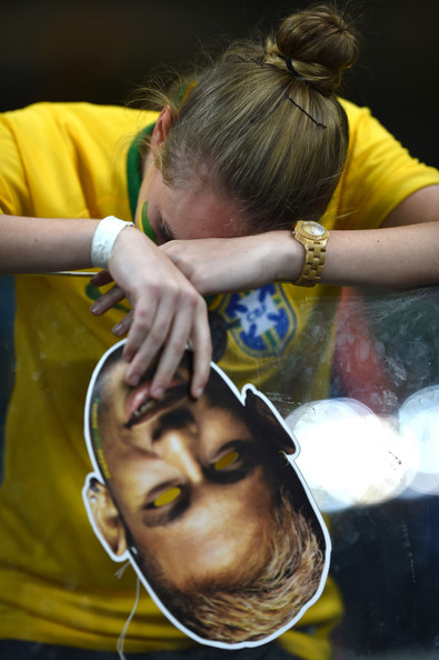 Another Brazil fan crying