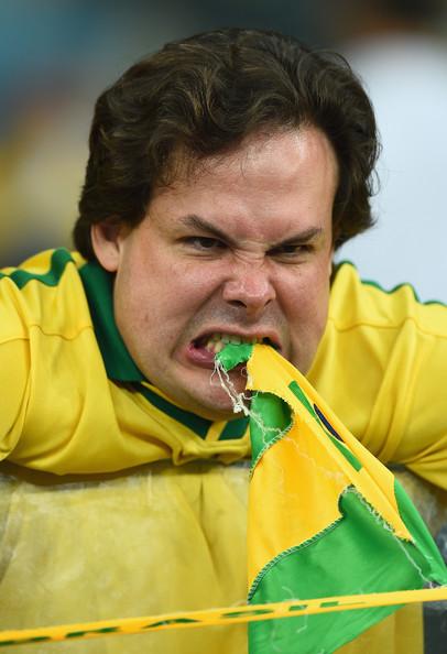 Brazil fan angry