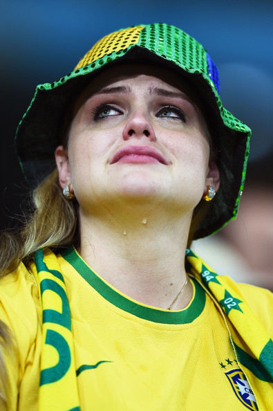 Brazil fan in tears