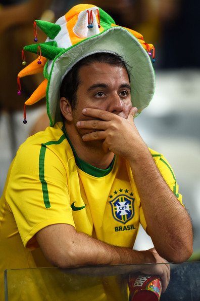 Brazil fan shedding tears
