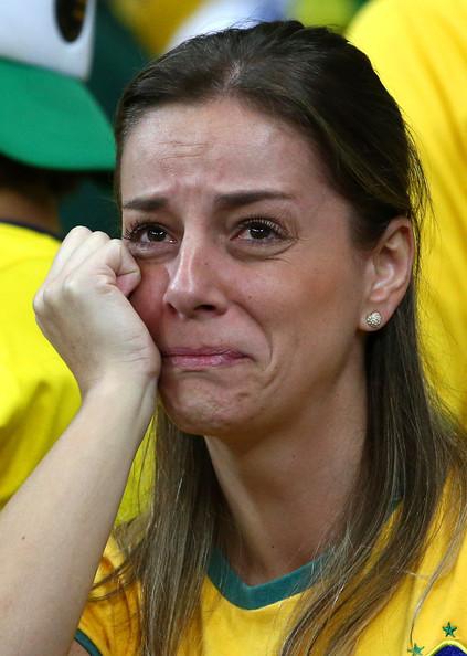 Brazil fan sobbing