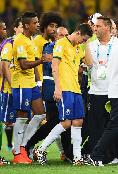 Brazil players crying