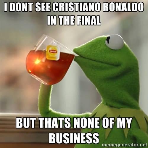 Cristiano Ronaldo isn't in the final