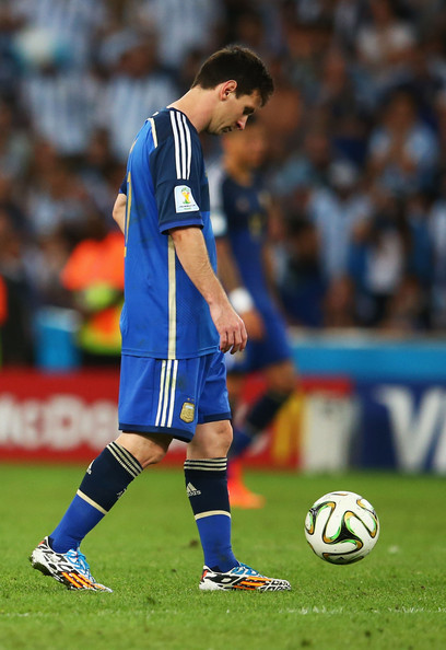 Dejected Lionel Messi