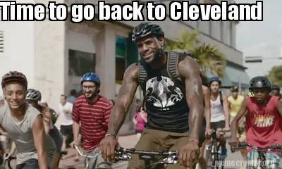 Going back to Cleveland