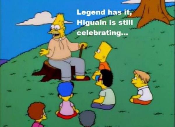 Higuain is still celebrating