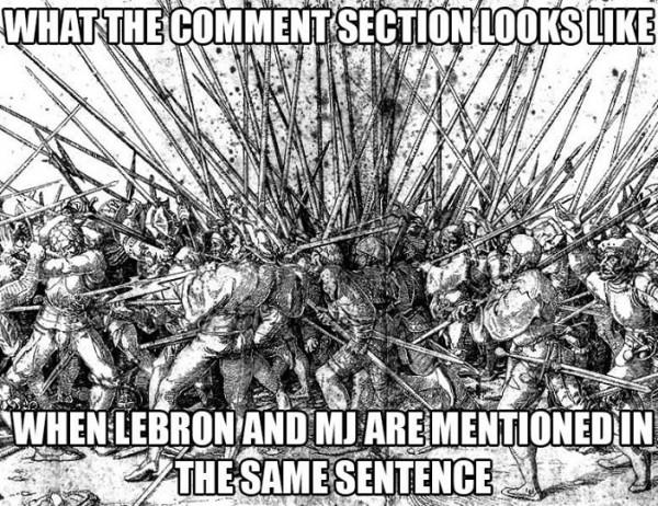 LeBron vs MJ comments
