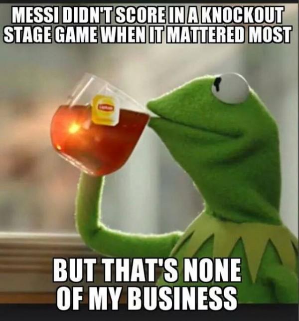 Messi didn't score