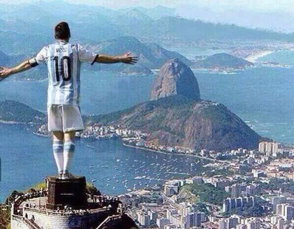 Messi over Brazil