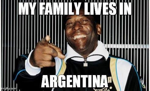 Pele moving to Argentina