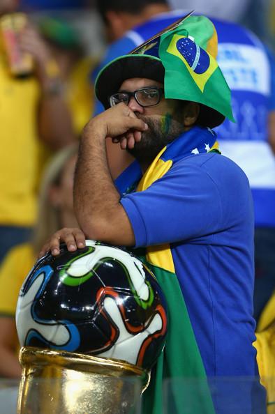 Teary Brazil fan