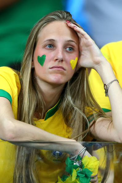 Teary-eyed Brazil fan