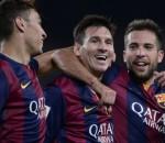 El Haddadi, Messi, Alba