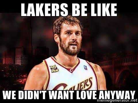Lakers crying