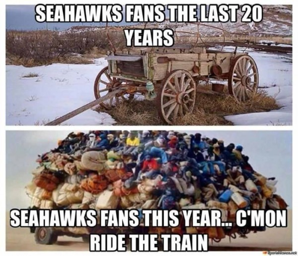 Bandwagon fans e1409919668423 18 Best Memes of the Seattle Seahawks Beating the Green Bay Packers