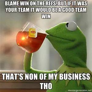 Blame it on the refs