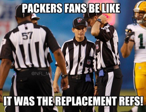 Cant blame the refs e1409919708298 18 Best Memes of the Seattle Seahawks Beating the Green Bay Packers