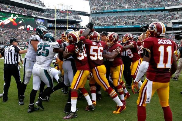 Eagles & Redskins Brawl