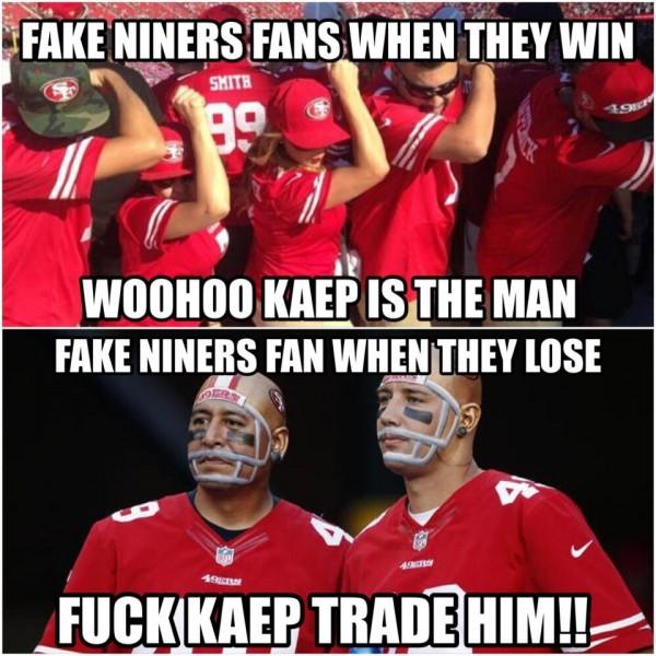 Fake niners fan