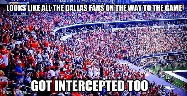Fans got intercepted too
