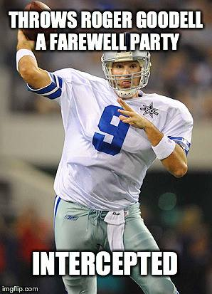 Farewell party for Goodell