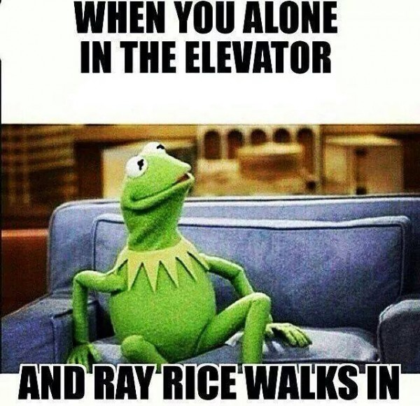 In an elevator