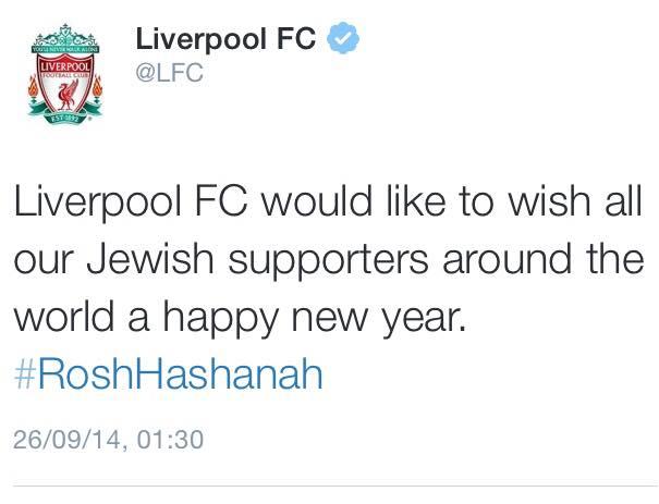 Liverpool Jewish Tweet