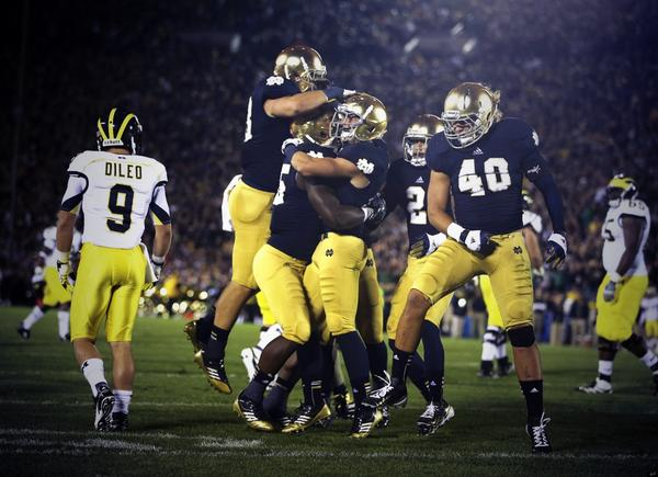 Notre Dame touchdown