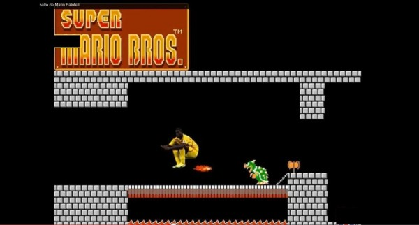 Playing Super Mario