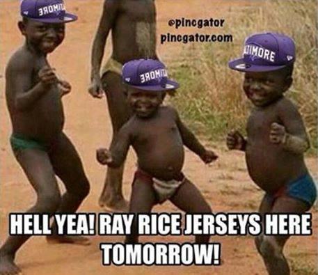 Ray Rice jerseys on their way