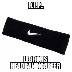 Retiring the headband 17 Best Memes of LeBron James Losing & Getting New Hair