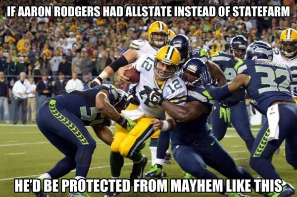 Rodgers insurance e1409919724302 18 Best Memes of the Seattle Seahawks Beating the Green Bay Packers