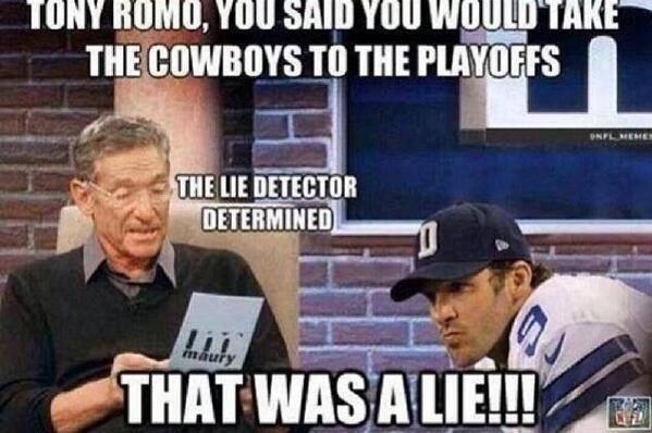 Romo lied