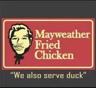 Serving duck