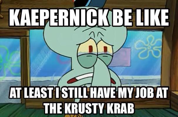 Still working at Krusty Krab