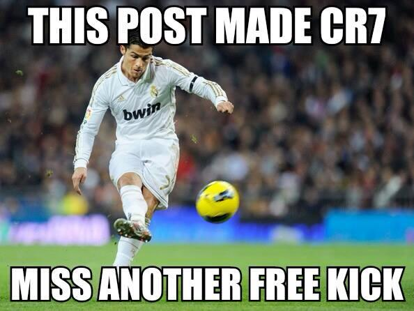 This post made ronaldo miss