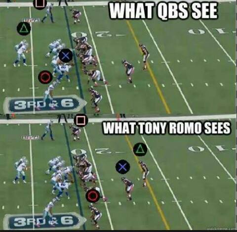 What Romo sees