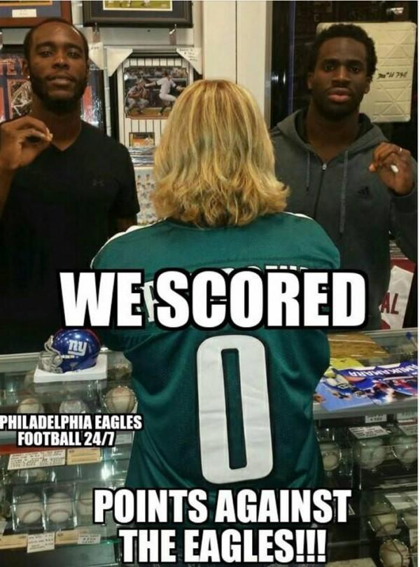 0 points vs Eagles