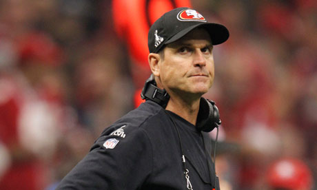 Jim Harbaugh glum
