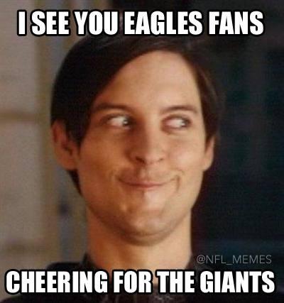 Eagles cheering Giants