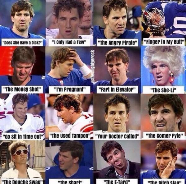 Eli Manning faces