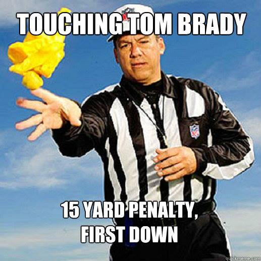 Flag on touching Brady
