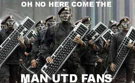 Here come the Man Utd fans