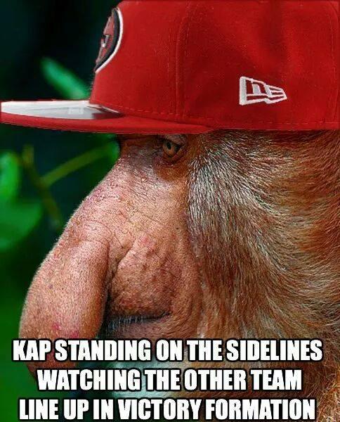 Kaepernick on the sidelines