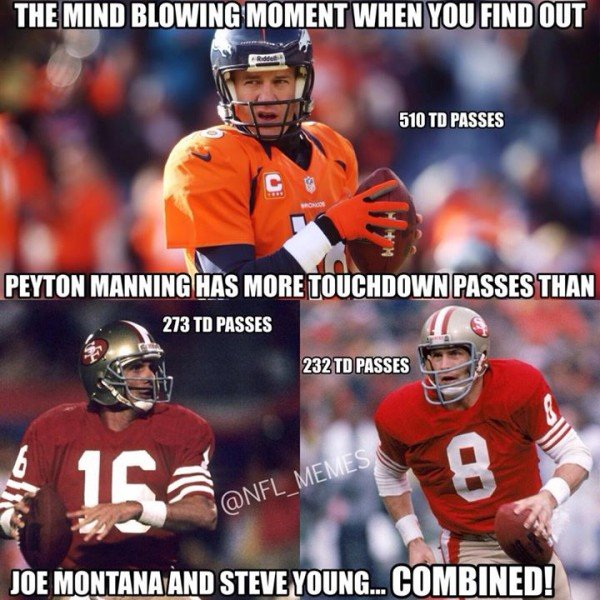 Manning more than others