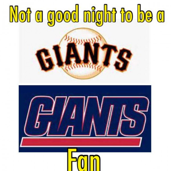 Not a good night to be a Giants fan