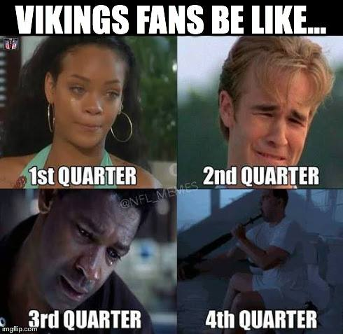 Process of a Vikings fan