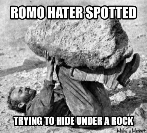 Romo haters hiding