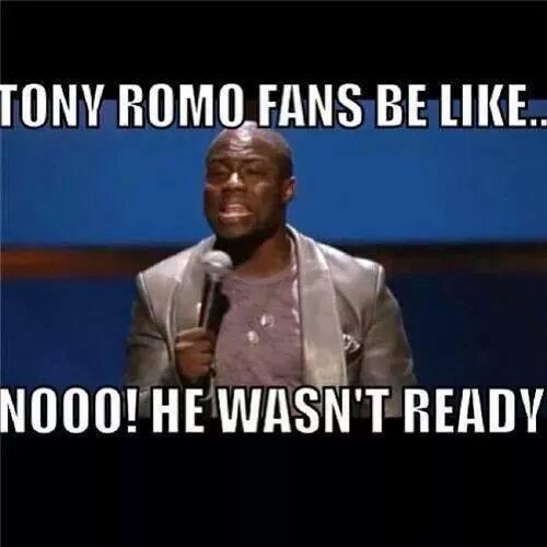 Romo wasn't ready